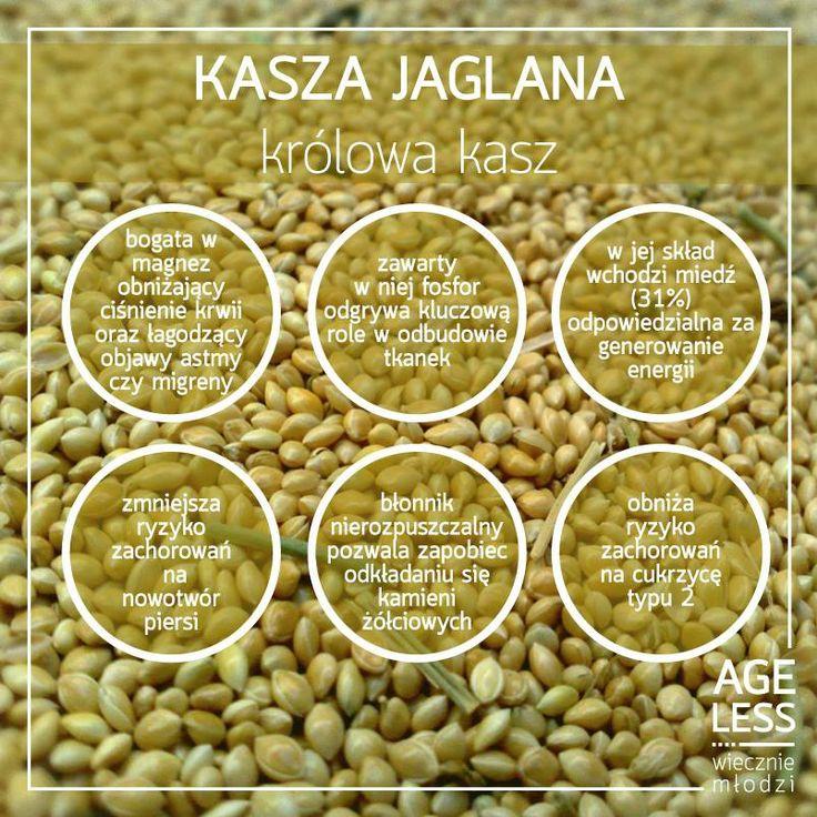 Wszystkie kasze są zdrowe, ale prawdziwym źródłem cennych minerałów jest kasza jaglana. Co da nam regularne jej spożywanie? Sprawdźcie!  #ageless #wieczniemlodzi #kasza #witaminy #blonnik www.ageless.pl
