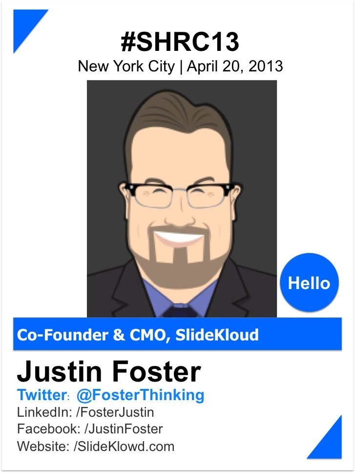 """JUSTIN FOSTER    Justin Foster is the co-founder and CMO of Klowd.com - the creators of the SlideKlowd audience engagement platform.  In addition to his business ventures, Justin is a speaker and author on branding, marketing, and generational/technology trends.  He is the author of """"Oatmeal v Bacon: How to Differentiate in a Generic World"""".     www.slideklowd.com"""