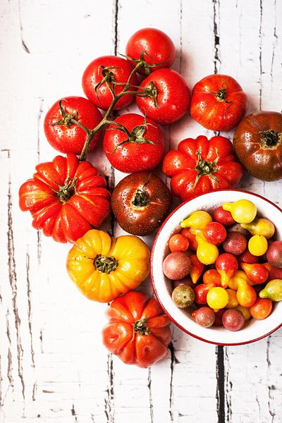 tens of different types of tomatoes and thousands of way to cook them!