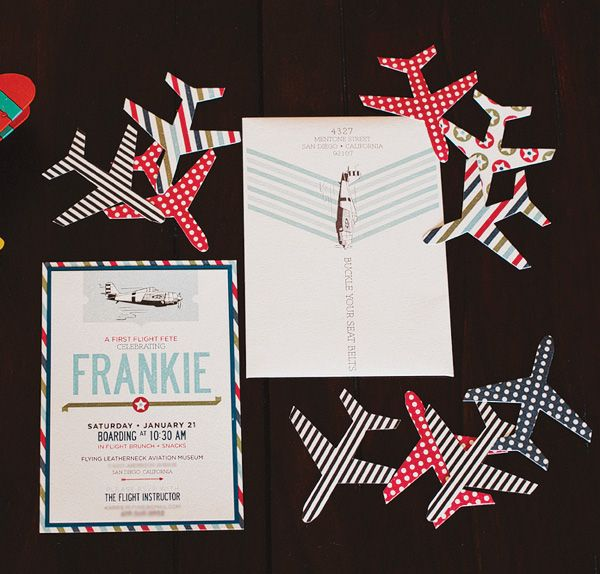Vintage airplane themed birthday.  Very cute, but with a touch of adult sophistication.  Nicely done!