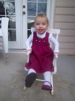 A Knit Baby Dress