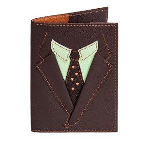 обложка на паспорт пиджак коричневый