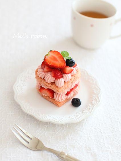 簡単手軽なピンクの苺ショートケーキ │ めいの部屋ブログ