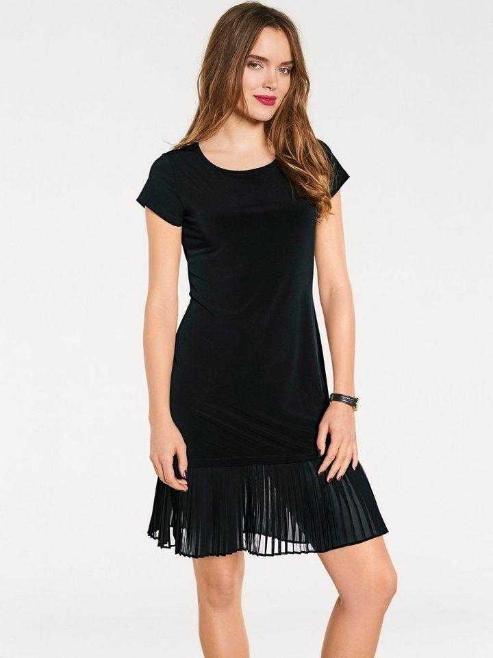 20fa6af1bd0d05 heine STYLE Jerseykleid mit Plissee-Falten | Produktkatalog Fashion ...