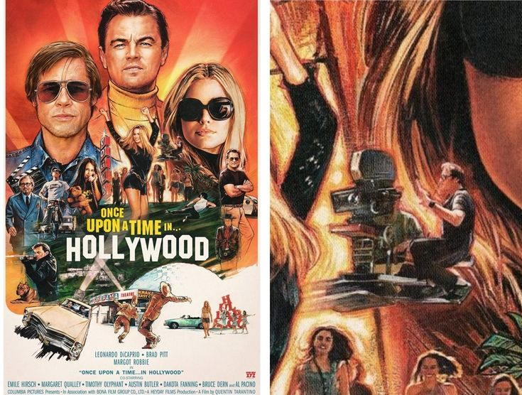 Quentin Tarantino on the poster of his 9th film Once Upon