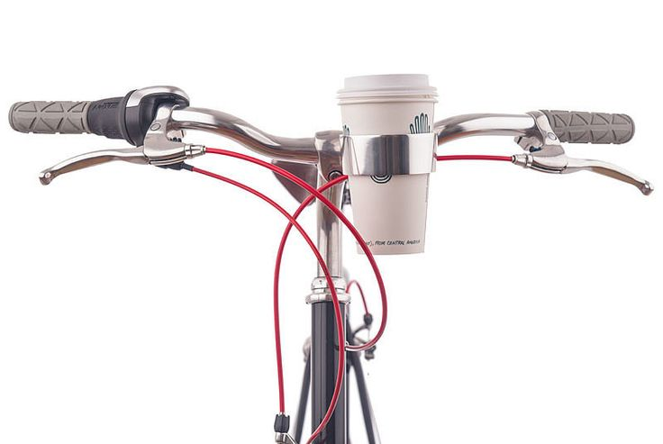 If the fresh air isn't enough to wake you up, this Rav X handlebar cupholder ($15) — which fits a to-go cup or tapered thermos of coffee perfectly — is a must-have accessory for your morning commute.