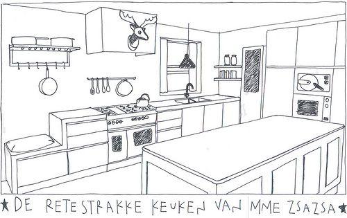 70 beste afbeeldingen over keuken op pinterest zoeken for Keuken tekenen
