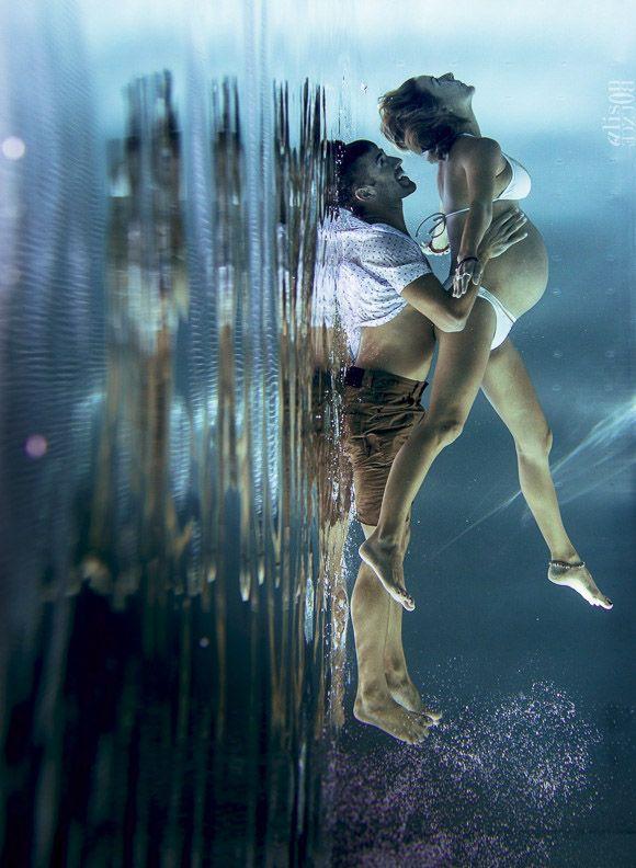 Souvenirs de grossesse sous l'eau