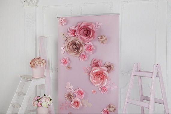Papierblume Hintergrund  Papier Blume Wand  Papier von MioGallery