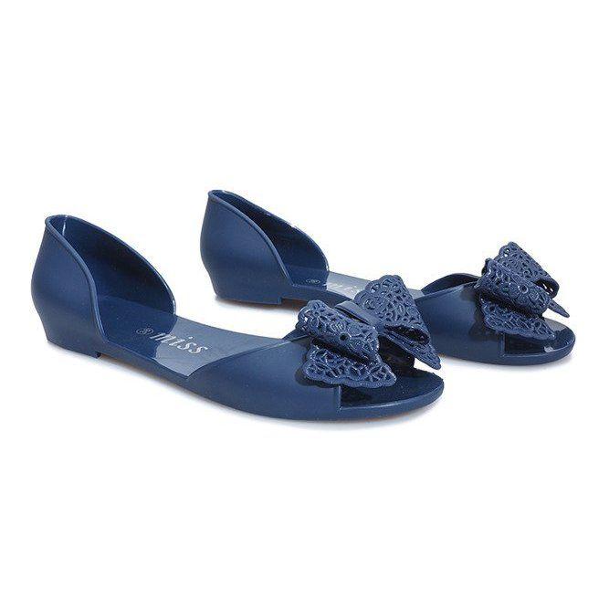 Granatowe Sandalki Meliski Z Kokardka Delmar Womens Sandals Types Of Heels Women Shoes