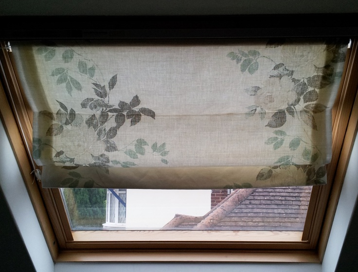 How to make Roman Blinds for Velux Windows. Office skylight cover