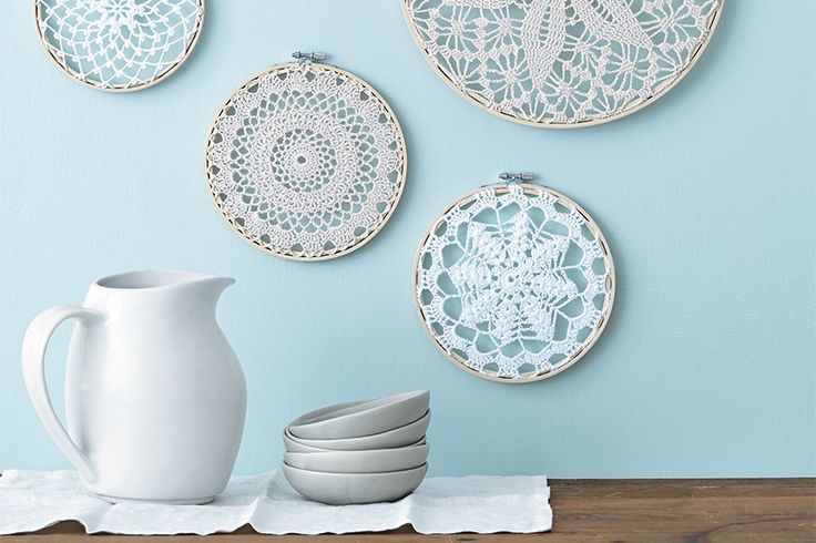 DIY project: Wintry wall hangings
