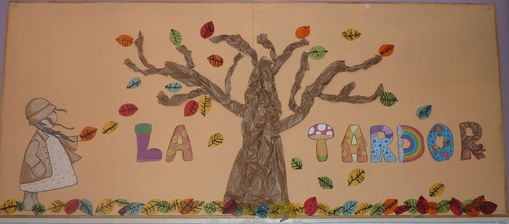 mural de la tardor de l'escola