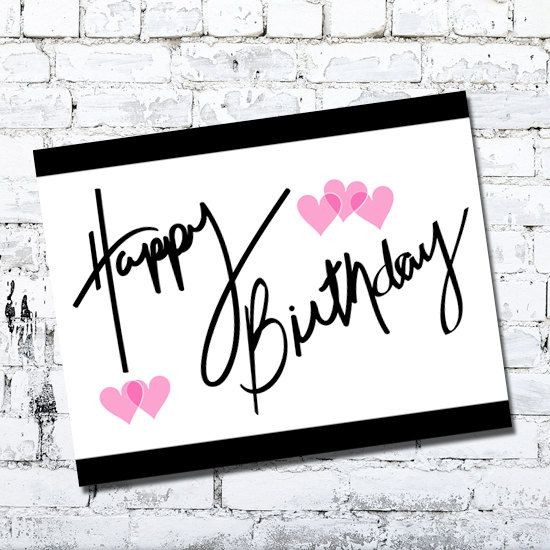 Happy Birthday - Greeting Card - Friends by Thingsforasmile on Etsy