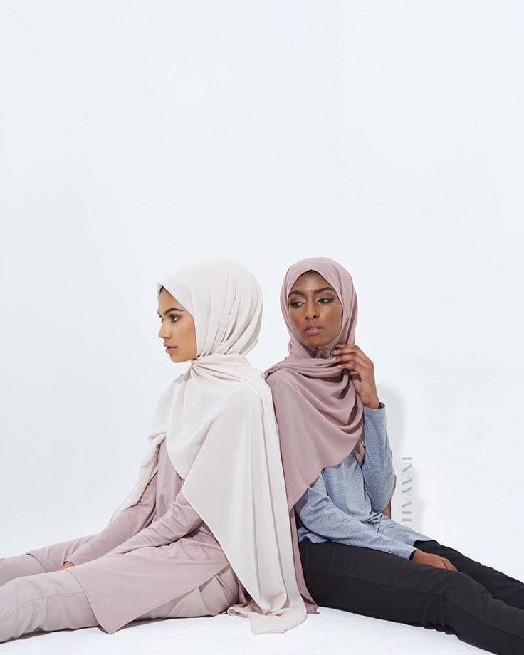 INAYAH | Extant fashion -  Mushroom Cotton Blend #Top + Mushroom Straight Leg #Trousers + Sand Soft Crepe #Hijab + Light Grey Cotton #Blend #Top + Black Straight Leg #Trousers + Dusty Pink Soft Crepe #Hijab - www.inayah.co