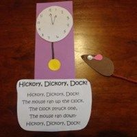 Hickory, Dickory, Dock Nursery Rhyme Craft
