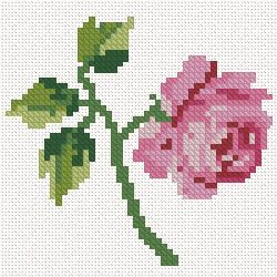 miniature needlework rose chart