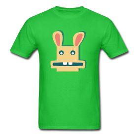 Een grappig konijn. Leuk t-shirt voor kinderen of volwassenen!