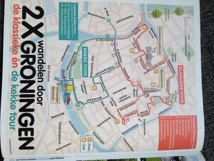 Groningen; de Klassieke wandeltour & de Kekke wandeltour