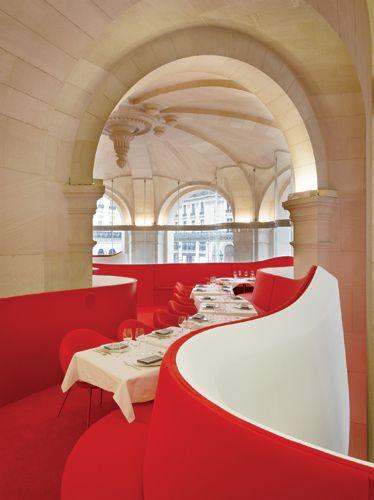 RESTAURANT | L'Opera Restaurant, Paris, France by Odile Decq Benoit Cornette Architects. #Opera #Restaurant #Paris #France #Odile #Decq #Benoit #Cornette #Architects [ok]
