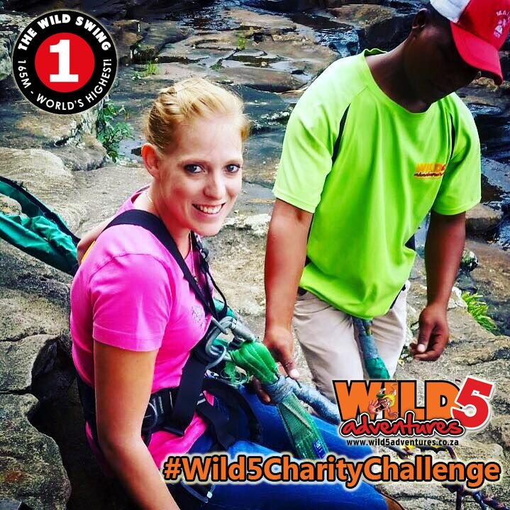 Over the past two weeks Michelle Cilliers and Precious Gumede both hailing from the South Coast Fever, completed the Wild 5 Charity Challenge. Both ladies thoroughly enjoyed their experiences by braving the #WildSwing, their newspaper branch has invited Siphelele Nkete from Media24's East Griqualand Fever to take a leap of courage for charity.