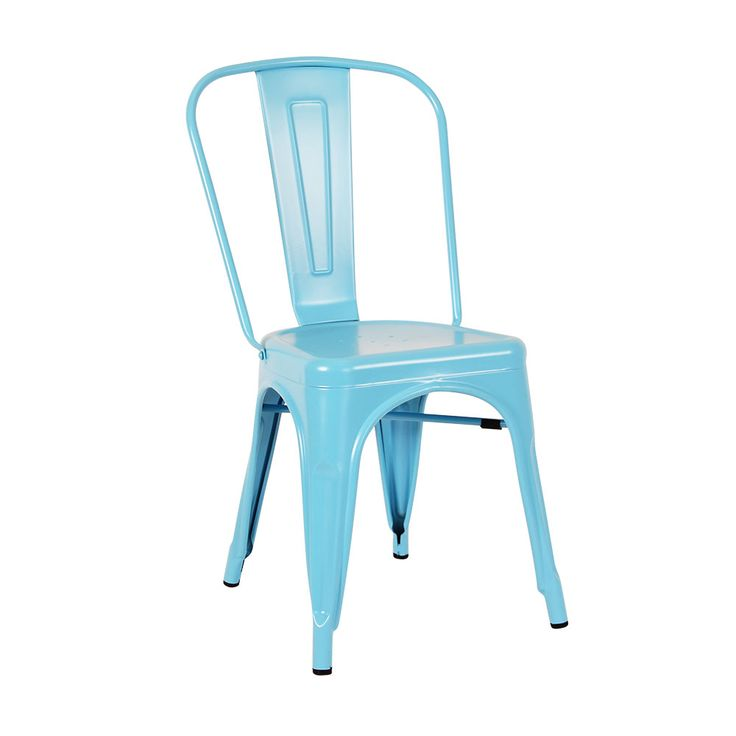 Tolix Chair in matte blue Indoor use only Matte finish