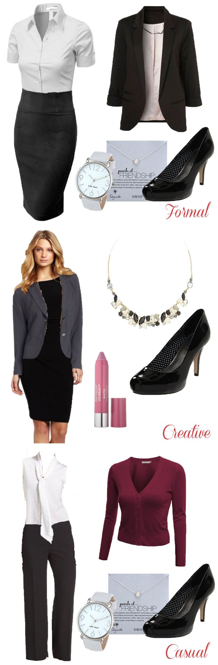 Formal, Creative, Casual Interview Outfits