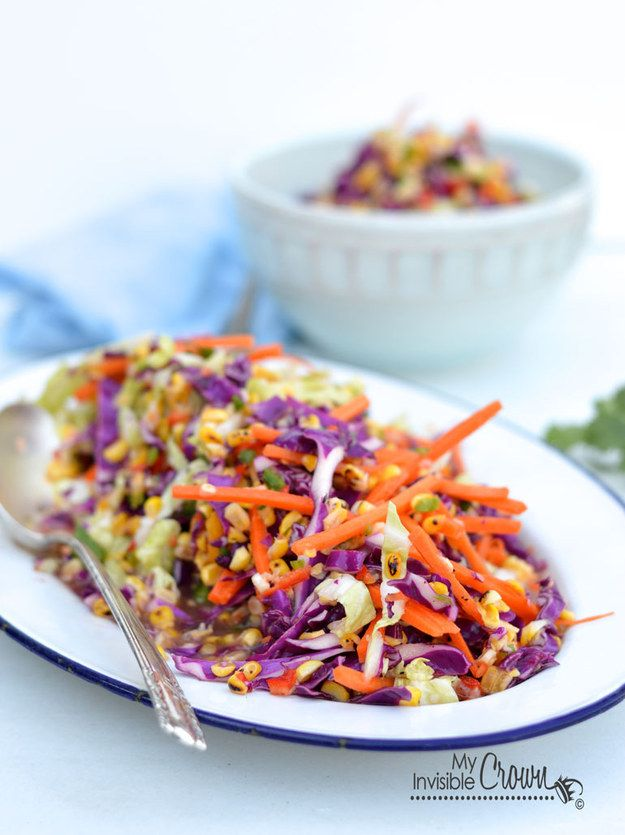Grilled Corn Slaw with Tangy Lime Dressing | 37 New Barbecue Classics You'll Love Forever buzzfeed.com