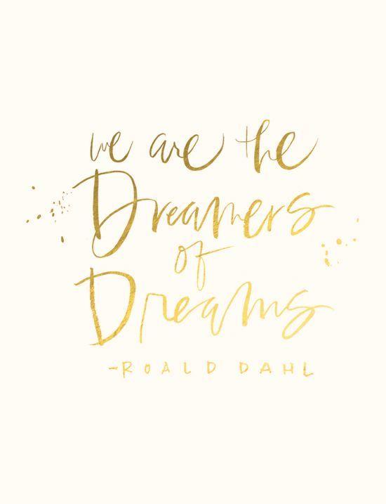 Siamo i sognatori dei sogni...