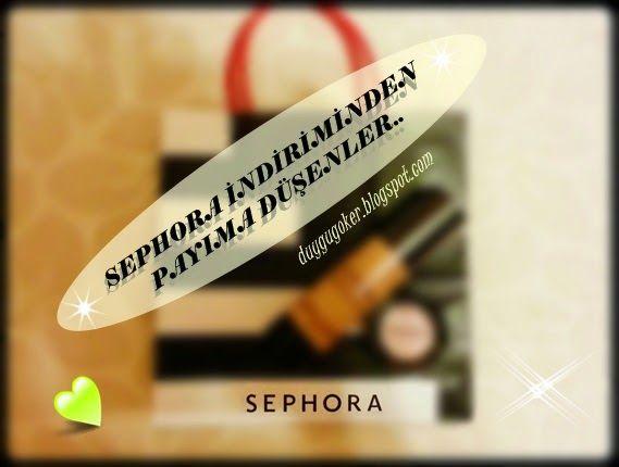 ** Su PeRiSi **: Sephora'da İNDİRİME HÜCUM Ettiklerim :)