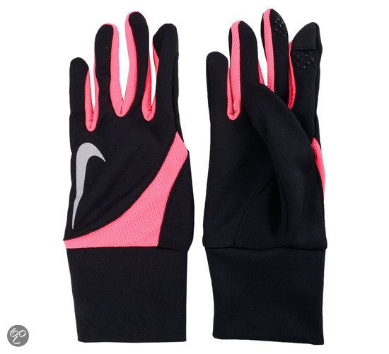 Nike Tailwind - Hardloophandschoenen - Vrouwen - Maat M - Zwart/Roze