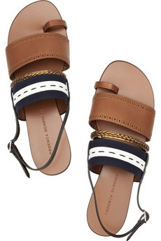 insanely chic, yet simple sandals. #need