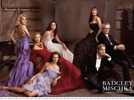 Eva Longoria, Kerry Underwood, Brooke Shields, Lauren Hutton, Angelica Huston with Designers Badgley & Mischka | Leibovitz