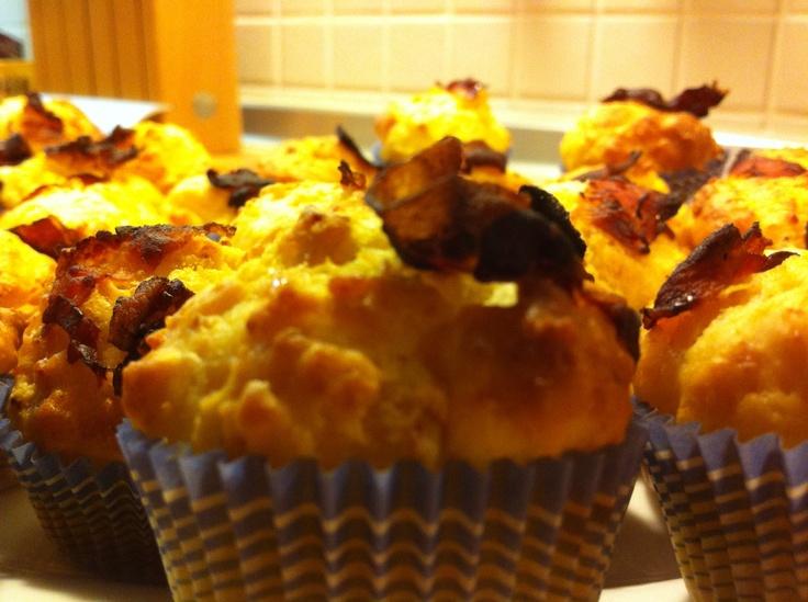 Cupcakes parmigiano e bacon