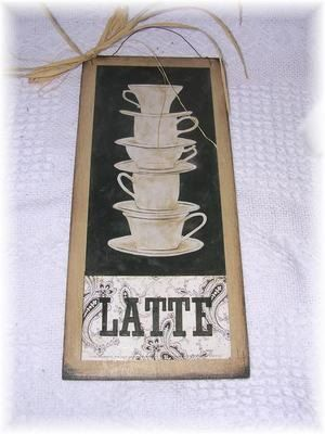 Kitchen Signs Latte And Coffee Mugs On Pinterest