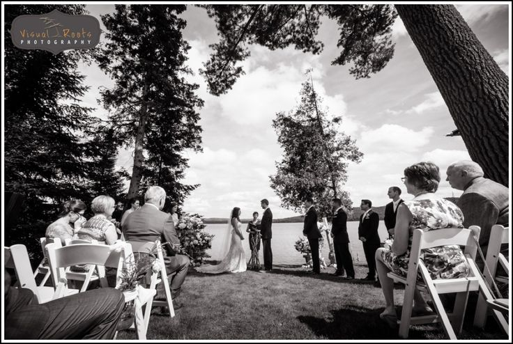 #Lakeside #Wedding #Ceremony #Bride #Groom #Family