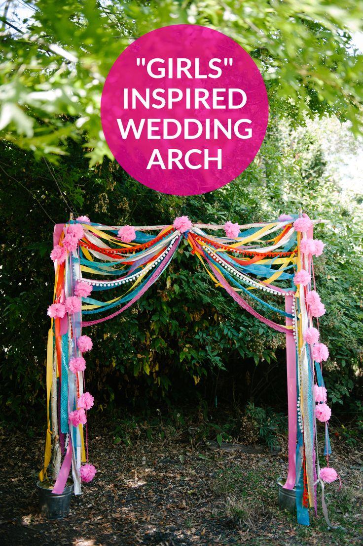 GIRLS INSPIRED WEDDING ARCH | A PRACTICAL WEDDING