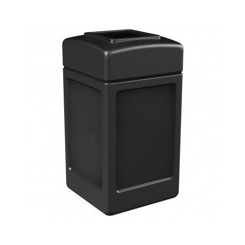 Outdoor Trash Can Bin Large Commercial Indoor Lid Recycle Garbage Waste Black #CommercialZone