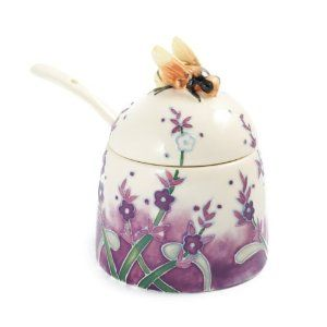"Tupton Ware ""Lavender"" Beehive Honey Pot"