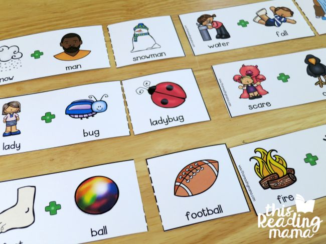 matching compound words puzzles