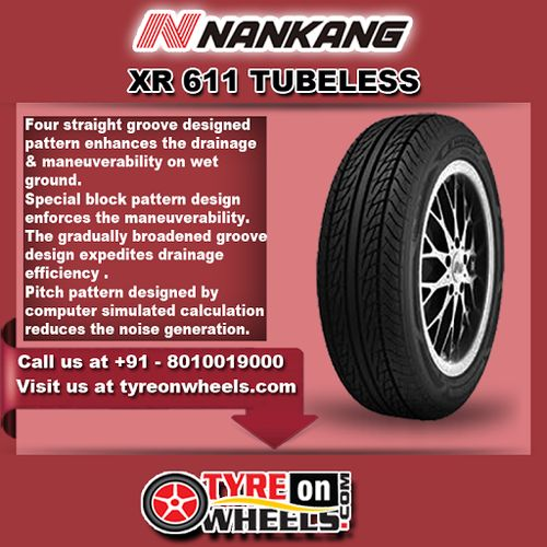 Buy Nankang XR 611 Tubeless Tyres Online for Size 175/65R14 at Guaranteed Low Prices and also get Mobile Tyres Fitting Services at your home now buy at http://www.tyreonwheels.com/tyres/Nankang/XR-611/1188