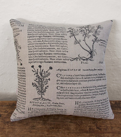 Cushion, Latin Herbal (black)