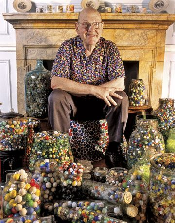 Marbles Collection | Bert Cohen with Some of His Marble Collection