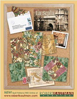 Robert Kaufman Fabrics: La Scala: 100% Cotton Quilting Fabric