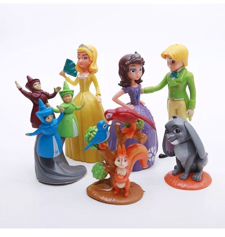Disney Jr Sofia the First PVC Set of 5 Figures Cake Topper Fairy Godmothers  | eBay