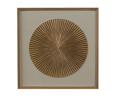 Настенный декор из дерева - ясень, 80х80 см