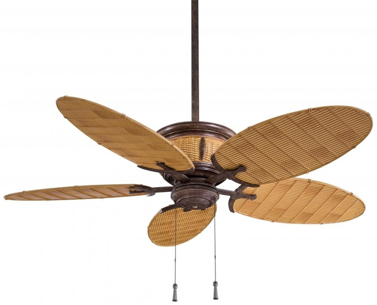 Minka aire shangri la vintage rust bamboo outdoor fan tropical ceiling fans lighting and locks