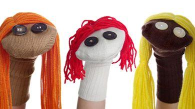Marionnettes: activité de bricolage à faire avec les enfants pour stimuler leur développement.