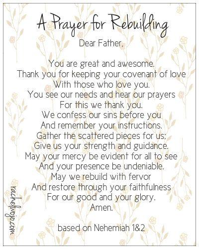 a prayer for rebuilding
