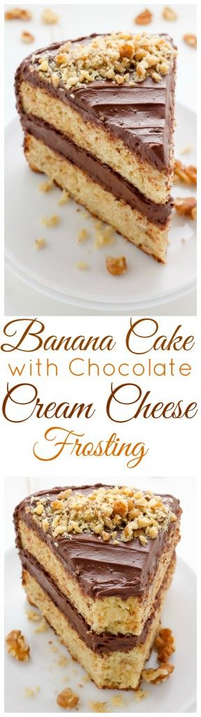 Old-Fashioned Banana Cake with Chocolate Cream Cheese Frosting